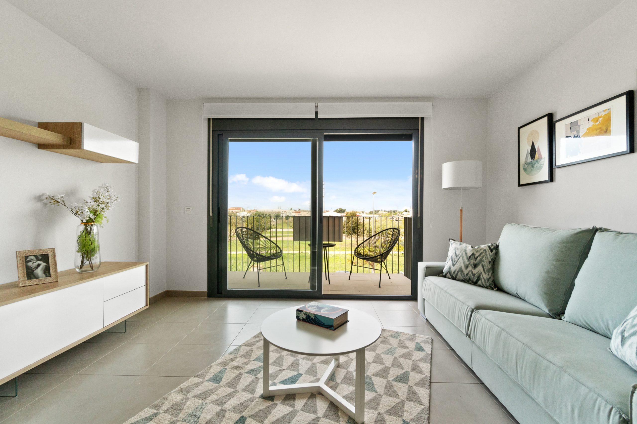Vista Salón y Terraza piso nuevo vinaròs